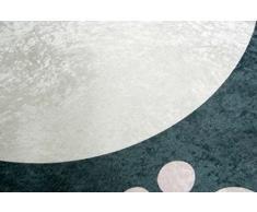 Imprimir Alfombras Tapetes juegos infantiles lavables alfombra de la estera con el pingüino de diseño en negro y blanco amarillo rosado Größe 100x140 cm