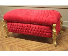 Casa Padrino – Banco Ropa Sucia De Estilo Antiguo terciopelo rojo alba201 1go rdhell