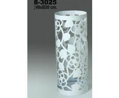 DonRegaloWeb - Paragüero redondo de metal calado en color blanco