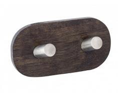 Gancho de pared Duo Belingo - Sin agujeros - acero inoxidable/madera - Gancho de pared - perchero - ganchos - toallero - perchero - ganchos adhesivo gancho