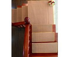 Escaleras Alfombra, Escalera Pad Escalera Estera Mat Alfombra antideslizante Alfombra antideslizante Manta de pasillo Moderno Gris ( Color : E , Tamaño : 100*24cm )
