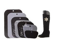 """Multifunción plástico botas de caña alta zapatos largo muslo apoyo soporte Hanger Holder multi-size regla corto Tall Boot Shaper inserciones de árbol para mujer Lady niñas, negro, 18"""" height"""