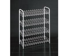 Metaltex 365404 - Zapatero con 4 estantes (12 pares), Acero inoxidable, 64 x 23 x 80 cm