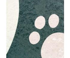 Imprimir Alfombras Tapetes juegos infantiles lavables alfombra de la estera con el diseño de la panda en blanco y negro Größe 100x140 cm