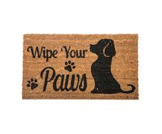 Wipe your Paws Dog Welcome Fibra de coco Felpudo