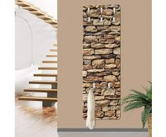 apalis 67495 American - Perchero de pared de piedra Pared, 139 x 46 cm