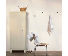 Walplus 5,5 cm x 3,2 cm), diseño de símbolos de Nueva perchero percha pared adhesivos decoración del hogar salón dormitorio decoración DIY, Oro