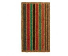 Heavy Duty 100% Fibra de coco Felpudo antideslizante alfombra/Felpudo (40 x 70 cm), diseño de líneas