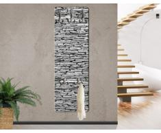 WTD mantiburi - Perchero decorativo para pared (tablero de madera DM, diseño de pared de piedra natural de Arizona)