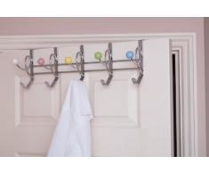 49 x 16 x 15,5 cm acrílico relación de acero perchero para puerta del/perchero de bolas de cerámica, Multi-color