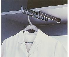 HAFELE Marca Alemania Perchero Extensible Colgador Extraíble para Armario Ropa Largo 312 mm Percha para Camisas para Corredera de Armarios Paquete de 1