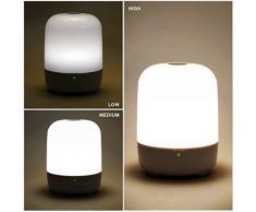 Luz inteligente portátil InnoBeta Capsule con bolsa de viaje y cable. Lámpara recargable LED multicolores con luz blanca cálida regulable + 256 luces multicolores RGB. Lámpara portátil con gancho para espacios exteriors, batería