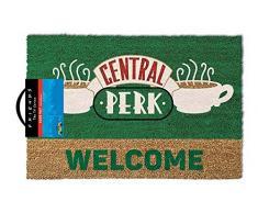 Friends Central Perk Welcome - Felpudo, poliuretano, color marrón