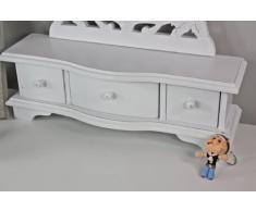 Blanco tocador tocador antiguo espejo de mesa de madera Nueva vanidad NUEVO