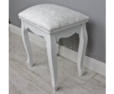 elbmöbel - Taburete para tocador, diseño floral, color blanco
