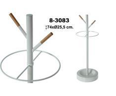 DonRegaloWeb - Paragüero de metal con forma de árbol en color blanco y marrón