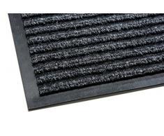 Sansibar – Felpudo atrapasuciedad Premium, Extremadamente Resistente, exterior e Interior, se puede lavar, libre de PVC, para limpiarse en puerta, entrada, Exteriores, gris, Multi 90x150 cm