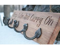 Perchero de pared r stico compra barato percheros de - Percheros de madera rusticos ...