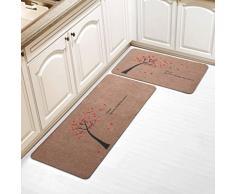 YHJ alfombra Alfombrillas de puerta Aspiradora de succión Alfombrillas de cocina Alfombras antideslizantes Alfombrillas mezcladas ( Tamaño : 50x180cm )