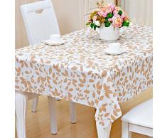 Pvc mantel/impermeable,prueba de quemadura,prueba de aceite,tapetes de mesa no lavables/rural,oblongo mantel/esteras mesa de té-O 137x190cm(54x75inch)