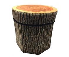 Kenmont 33 x 33 x 40 cm Creative grande Stump – Caja de almacenaje de baúles Taburete plegable 150 kg de capacidad de carga máxima banco caja de almacenamiento cesta de la colada, multicolor