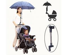 LL-Golf® - Soporte para paraguas o sombrilla para cochecito de bebé, bicicleta, silla de ruedas, andador, carrito de golf, pesca, etc.