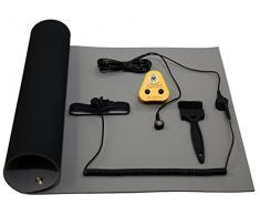 Antiestático ESD NOSHOCK Base Banco Tapete Kit, 1200 x 500mm, Azul o Gris - Gris
