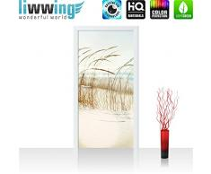 Liwwing - Tapete fotográfico autoadhesivo 100 x 211 cm - cima! prima mural plus puerta! panel de la puerta de