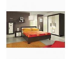 JUSTyou Cezar Conjunto dormitorio habitación de matrimonio Color Milano/Crema