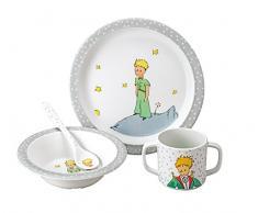 Le Petit Prince - Kit de vajilla infantil, color gris