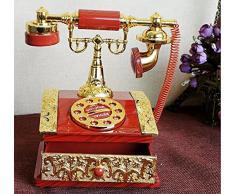 HorBous Clásico de Estilo Europeo a la Antigua Retro Cosecha de Talla teléfono teléfono Caja de música joyero Musical - 5 Estilos (1)