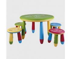 Conjunto mesa y 2 sillas infantil redonda cpu2003008