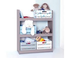 Estantería de madera para habitación de niño - 3 niveles - Color TOPO