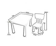 XUERUI Mesas Mesa Sillas Conjunto para Niños Muchachos Chicas Niños Escritorio Niños Pequeños Mueble Estudiar Jugando Guardería De Moda, Robusto Muebles (Color : Azul, Tamaño : 1 Table+1 Chair)