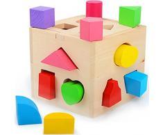 Un Set de Juguetes Educativos de Madera para Niños