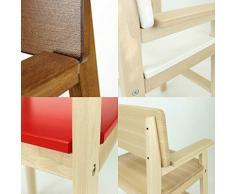 Silla infantil de madera maciza de haya de color nogal, para mesa de comedor, silla alta para niños, estable y fácil de limpiar, muchos colores posibles