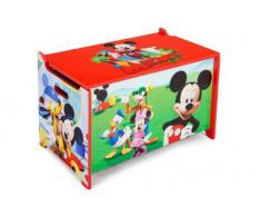 Delta Kids - Caja de juguetes de madera (62,2 x 39,3 x 33,7 cm) Mickey Mouse Talla:número: 1 unidad