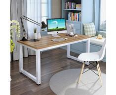Tribesigns Mesa de Ordenador Escritorio de la computadora Moderna Escritorio con para hogar o Oficina-Roble/Blanco - 120(L) x 60cm (W) x 74cm(H)