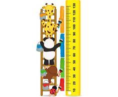Vinilo decorativo pared 3D Medidor escalera | Varias Medidas 100x130cm | Adhesivo Resistente y de Facil Aplicación | Multicolor|Pegatina Adhesiva Decorativa de Diseño Elegante|