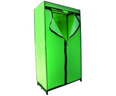 MSV MS175 - Armario, metal, 90 x 46 x 160 cm, color verde y negro
