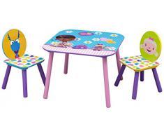 Mesa y 2 sillas Doctora Juguetes infantil de madera. TT89489DM