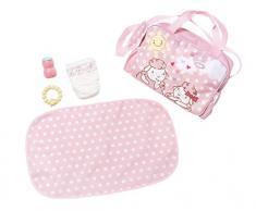Zapf Baby Annabell Travel Changing Bag Bolsa de pañales para muñecas - Accesorios para muñecas (Bolsa de pañales para muñecas, 3 año(s), Rosa, Blanco, Baby Annabell, Niño, Chica)