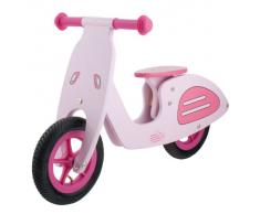 M-Wave Vespa Bicicleta infantil de madera, Unisex adulto, rosa, 12 pulgadas