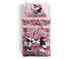 Colcha acolchada una plaza Caleffi Disney Minnie Mouse Love – Impresión digital Escluso sábana y almohada