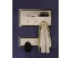 trendteam 131844001 2 armario frontal blanco con caña de Ego en color mate/Estructura en cromo brillante 85 x 45 x 18 cm y 85 x 26 x 7 cm