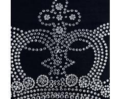 55x55 cm Cojines Cubren, Negro Fundas De Almohada, Cristales Emperador Corona Cubierta De Almohadas, Terciopelo Latín Cubierta De Almohadas - Emperors Crown