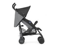 Chicco Echo - Silla de paseo, ligera y compacta, 7,6 kg, colección 2017, color negro