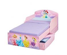 Disney Princesas 516DSN - Cama infantil con espacio de almacenamiento debajo de la cama, color rosa