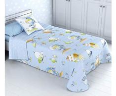 Colcha Boutí Infantil Modelo Space para cama de 90 (180x270) y 1 funda de cojín (50x50)