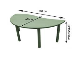 Mobeduc 600562.12H173 - Mesa infantil semirredonda, onda, talla 3, madera, color haya y amarillo